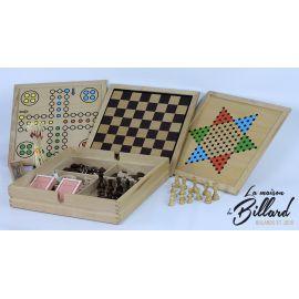 malle multiple jeux en bois