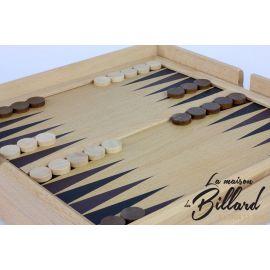 backgamon coffret jeux en bois multiples
