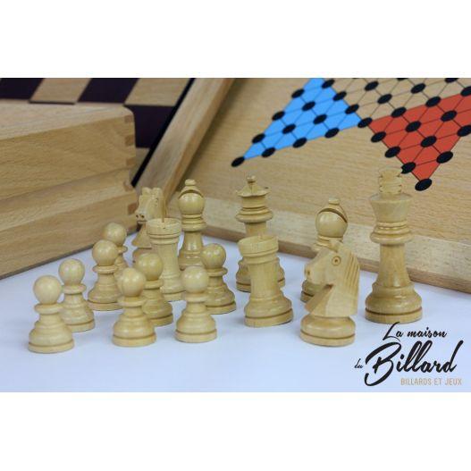 echec multi jeux en bois