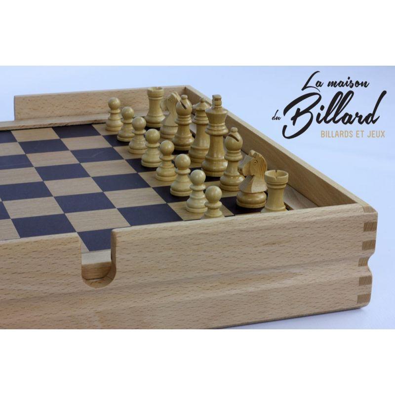 Coffret multi jeux en bois finition Luxe (20 jeux)