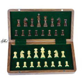 coffret jeu échecs avec rangement des pièces
