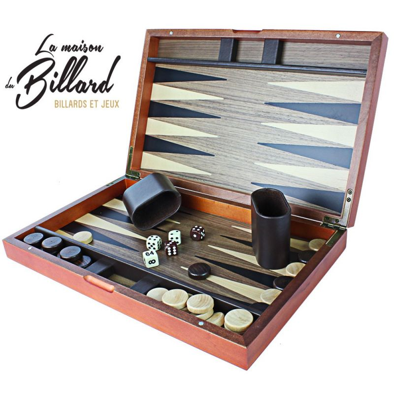 Jeu en bois Backgammon professionnel