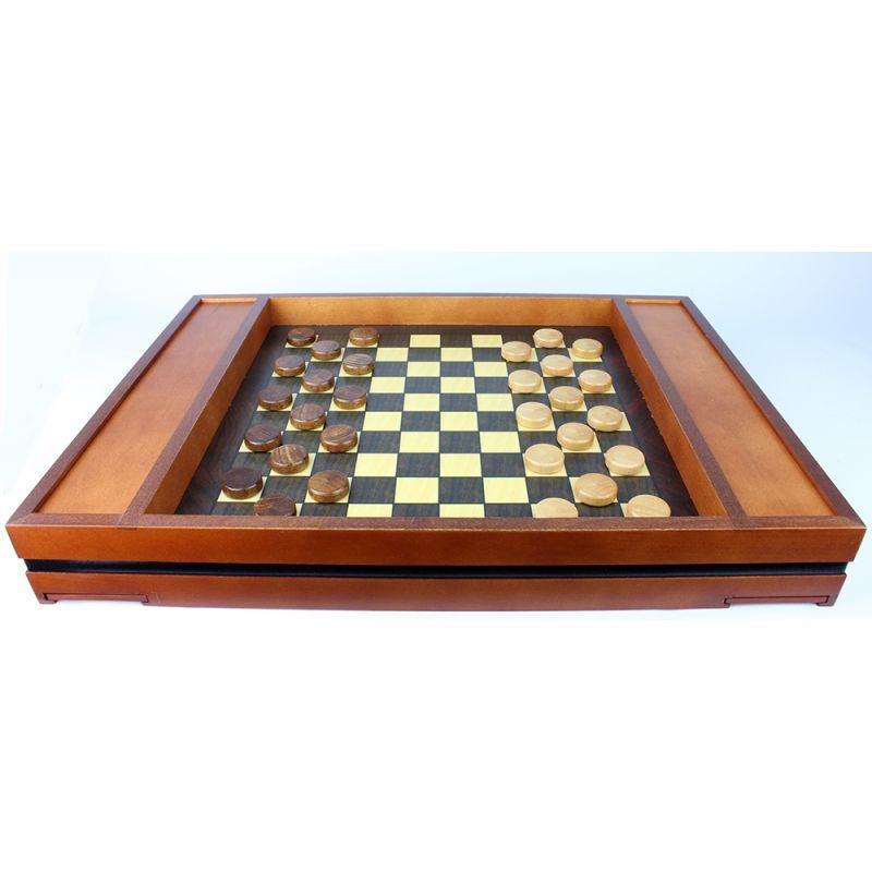 coffret jeu en bois échec et dames