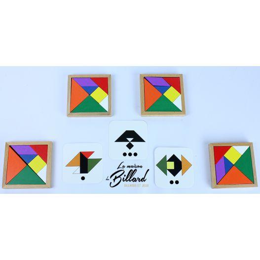 Speed tangram 4 joueurs en bois