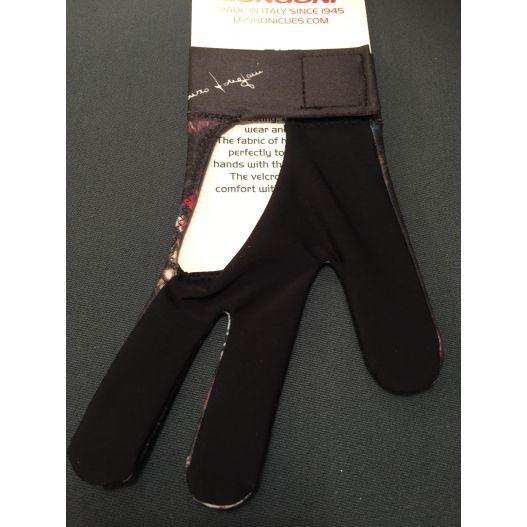 Gant noir Longoni poignet velcro (pour main gauche)