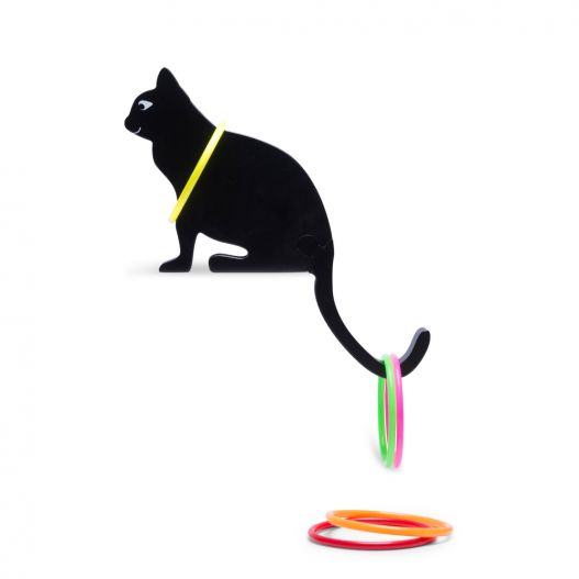anneaux chat en bois