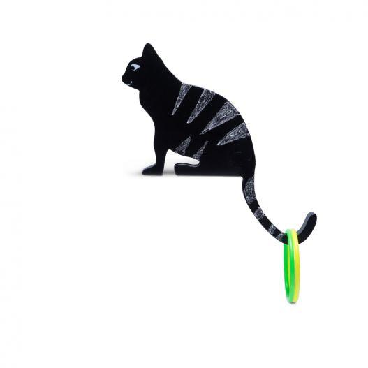 Jouet en bois anneaux chat