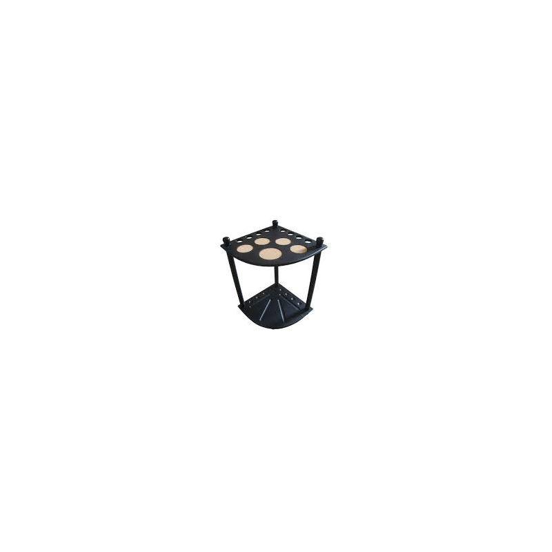 Porte queue angles noir