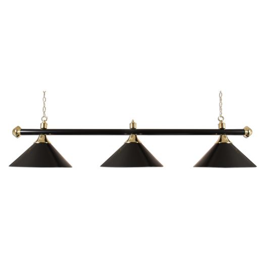 Luminaire 3 globes métal noir barre noire