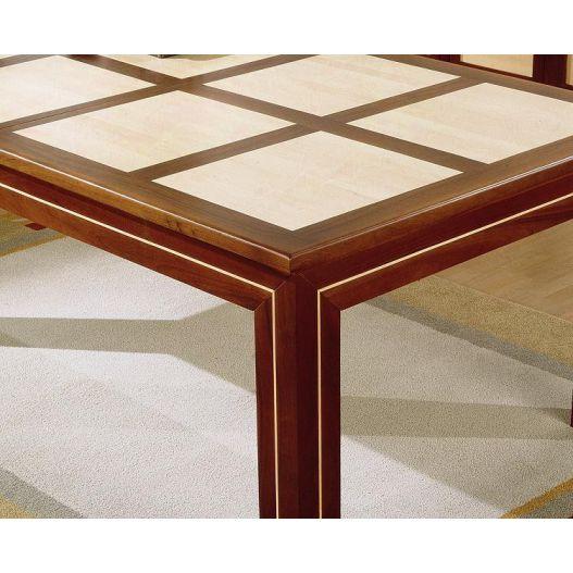 Plateau table NF à rabat extérieur droit, décor damiers