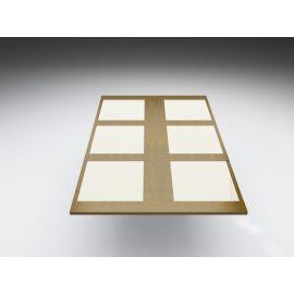 Plateau de table SV bord à bord, avec damiers en verre