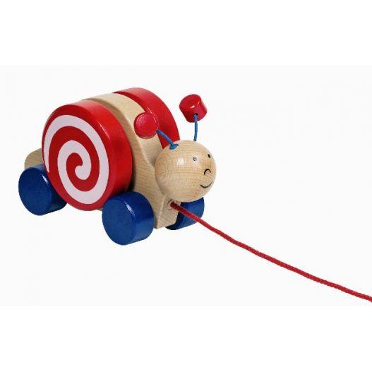 Escargot à tirer - jouet traditionnel pour enfants