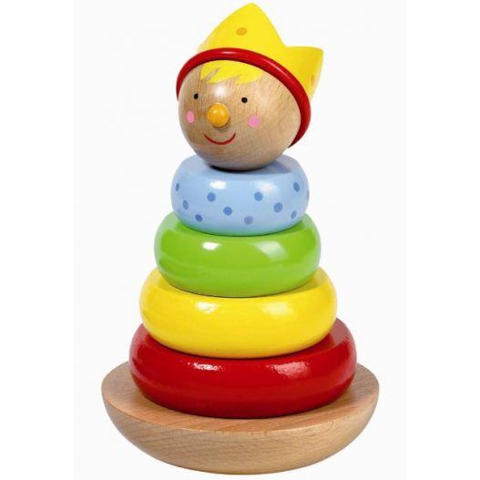 Prince en bois à empiler - jouet en bois premier âge