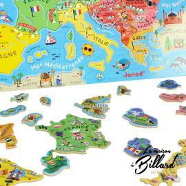 Jouet en bois cartes europe