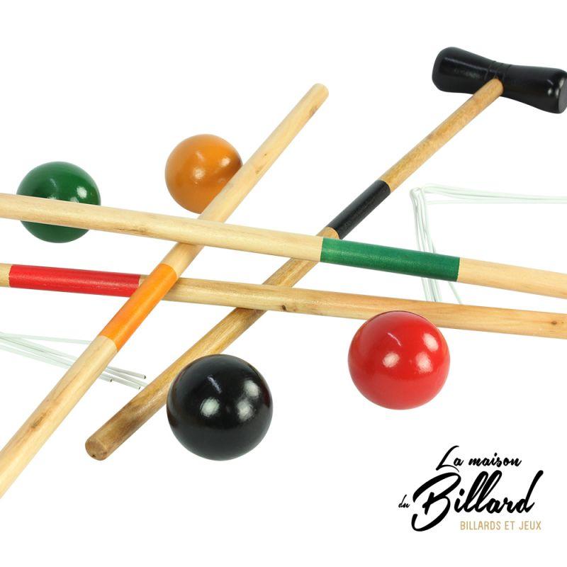 jeu de croquet 4 joueurs en bois