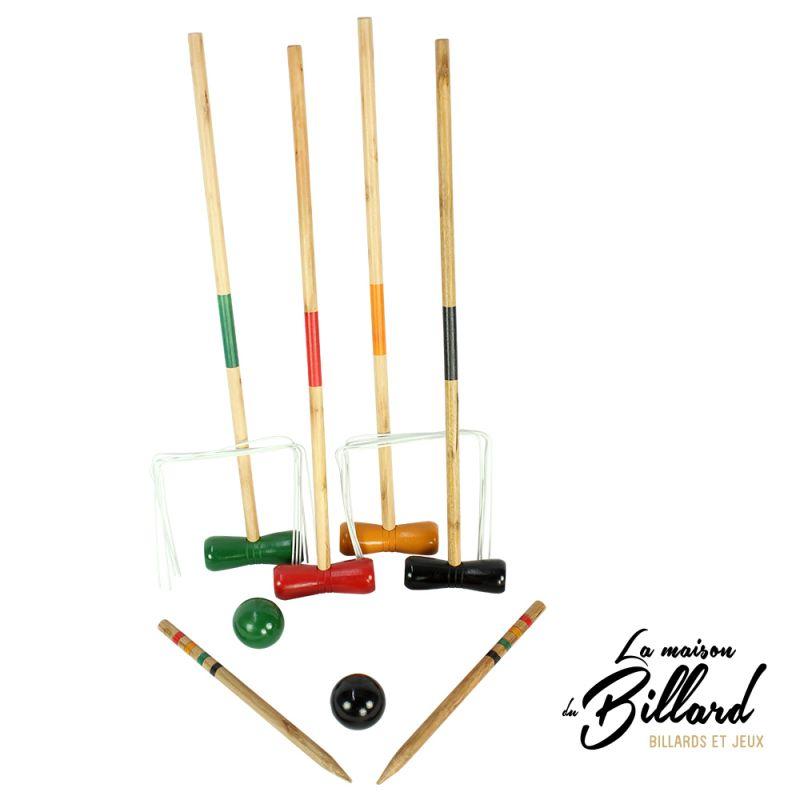 jeu de croquet en bois