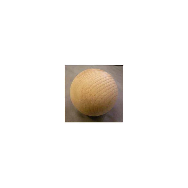 Boule en hêtre 70 mm pour jeu passe boule ou boule à la pente et clic ball