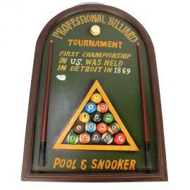 Déstockage : Cadre décoratif pool & snooker