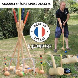 Jeu de croquet 6 joueurs adultes