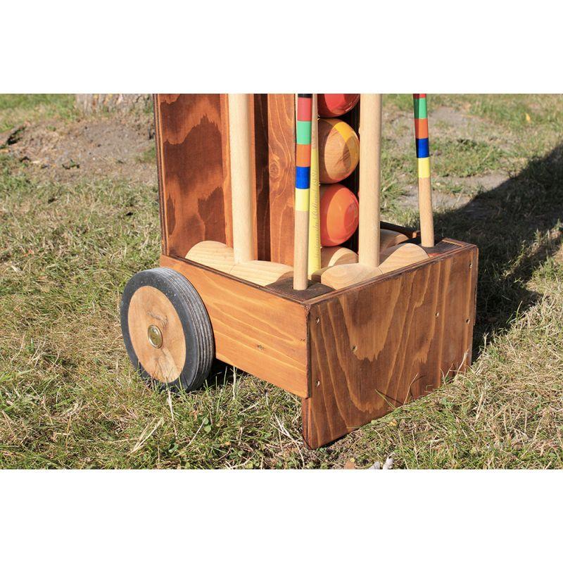 Chariot pour jeu de croquet luxe