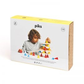 Piks 24 pièces. Le jouet créatif qui mélange équilibre et construction