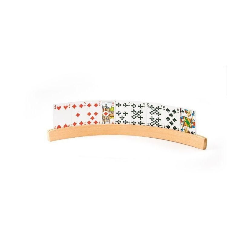 Porte cartes bois 35 cm