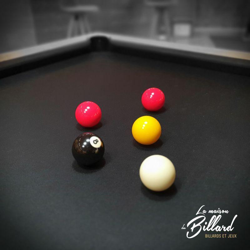 boules Noir jaune et rouge