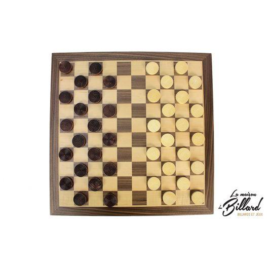 jeu de dames en bois