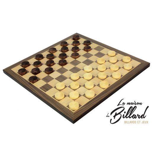 jeu de dames français en bois
