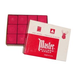 Boite de 12 craies Master rouges