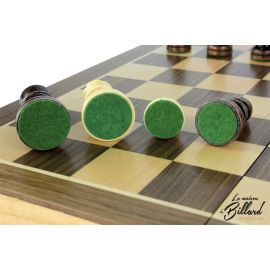 Échecs et backgammon pliable : le cadeau idéal pour un adulte (personnalisable)