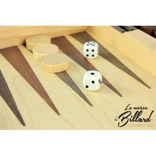 backgammon marqueté
