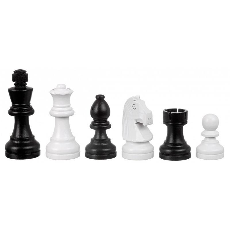 Set echecs et dames moderne 40 x 40 cm