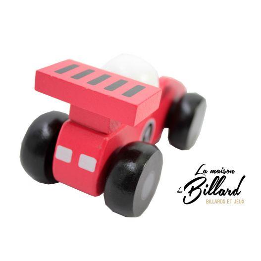 jouet en bois enfant : La Voiture de course rouge en bois