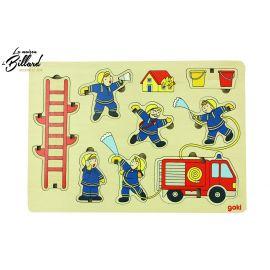 Puzzle éducatif 2 en 1 pompiers à empiler
