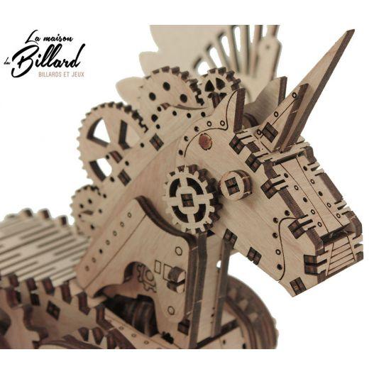 """Puzzle Licorne mécanique """"S"""" : le puzzle adulte qui ce transforme en jouet féérique"""