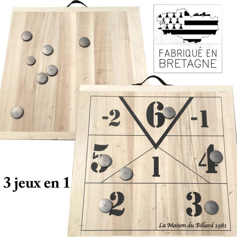 Jeu du palet Breton 3 en 1