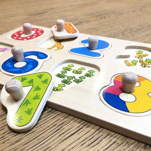 jouet en bois chiffre