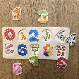 Puzzle chiffre en bois