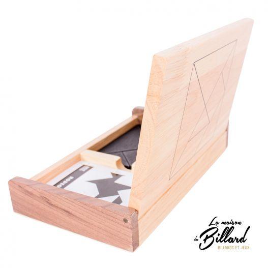 boite tangram en bois 2 joueurs adultes