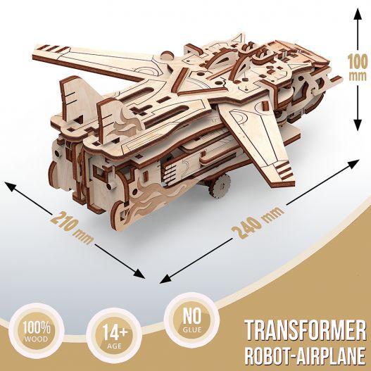 Puzzle en bois Robot-Avion : Une sorte de nouveau lego pour adultes