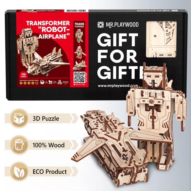 Puzzle avion robot 3D