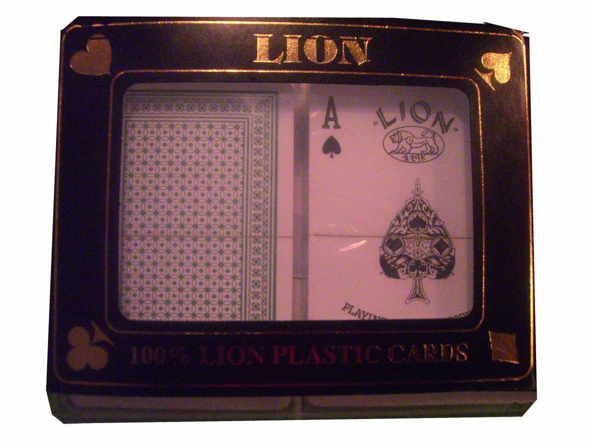 2 Jeux de cartes classique 100 % plastique