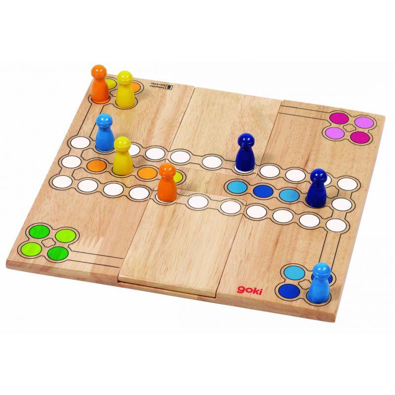 jeu de dada en bois 2 ou 4 joueurs. Black Bedroom Furniture Sets. Home Design Ideas