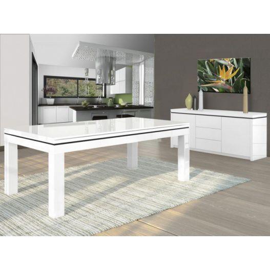 billard Novea, convertible en table, Blanc brillant + 20 autres coloris