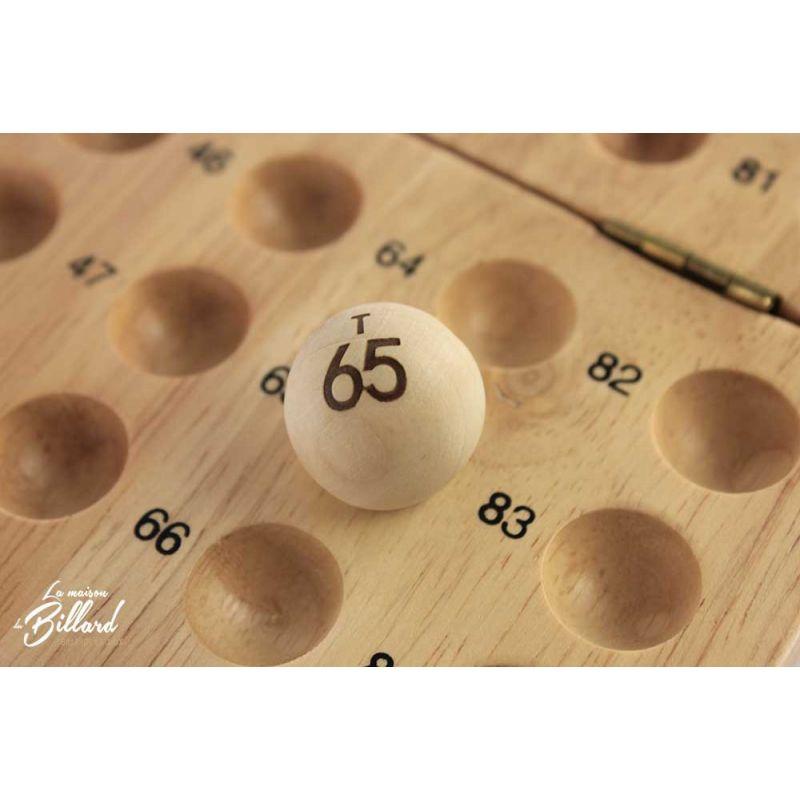 grille jeu de loto en bois