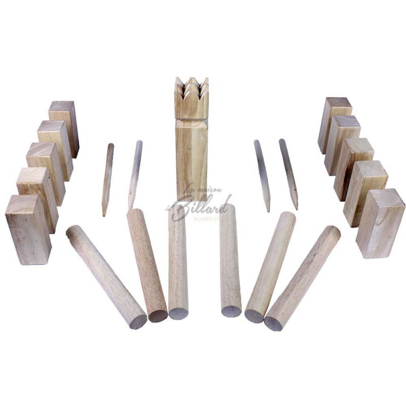 jeu du roi original kubb jeu de jardin adultes incontournable. Black Bedroom Furniture Sets. Home Design Ideas