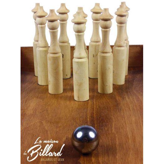 Jeu bowling traditionnel en bois