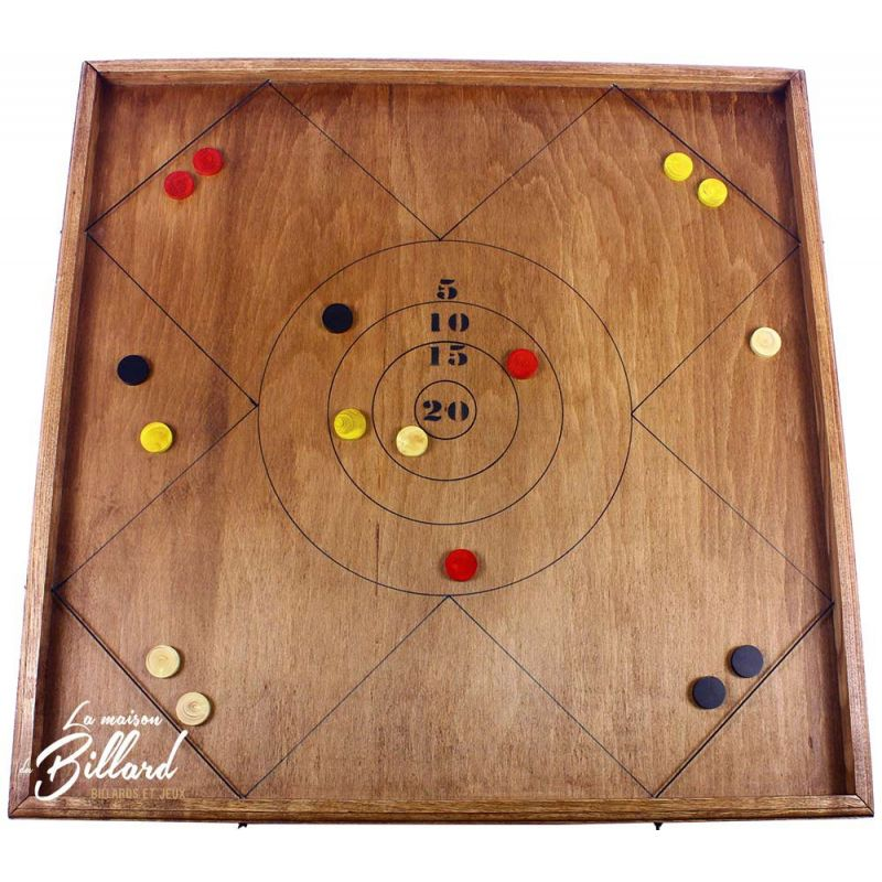 Jeu en bois 4 joueurs tir sur cible elastique for Regle du jeu petanque