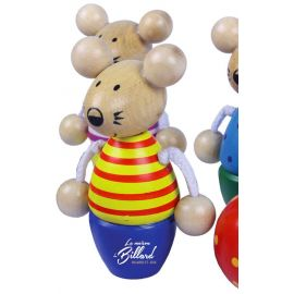 Quilles souris en bois - jouet en bois pour enfants